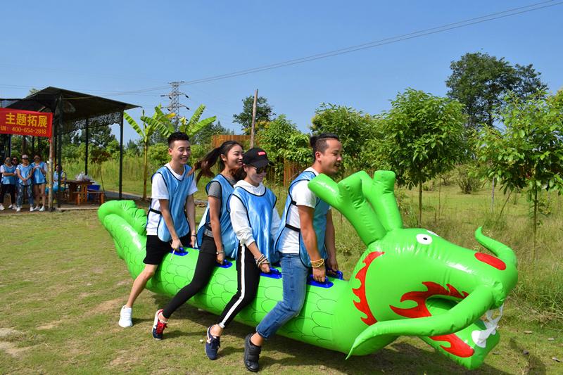 成都趣味運動會項目-旱地龍舟